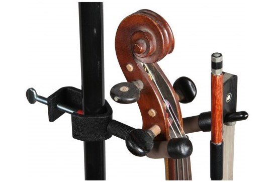 Mic / Music Stand Violin Hanger w/Bow